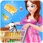 icon Pregnant Mom Food Shopping