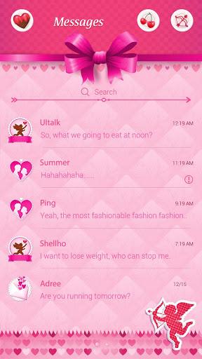 (مجانا) GO SMS عيد الحب موضوع